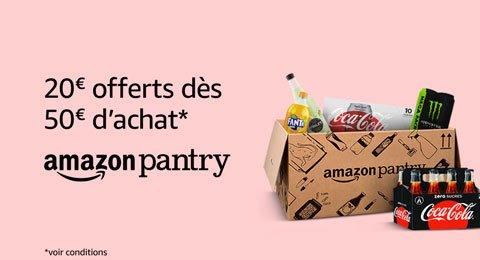 20€ offerts dès 50€ d'achats sur Pantry