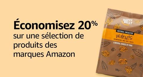 20% sur les produits des marques Amazon