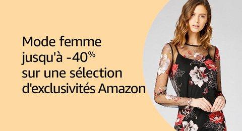 -30% sur les vêtements pour femme exclusivement sur Amazon