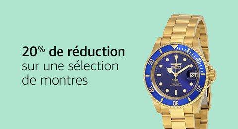 20% de réduction sur une sélection de montres