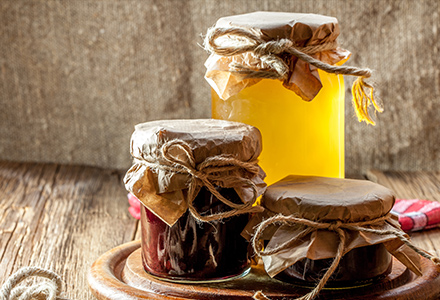 Miels et confitures