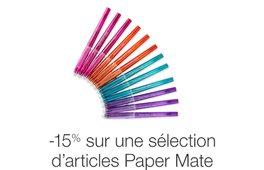 -15% sur une sélection d'articles Papermate
