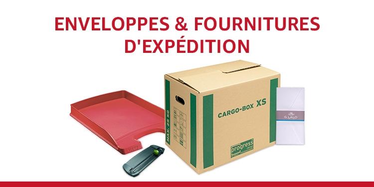 Enveloppes et fournitures d'expédition
