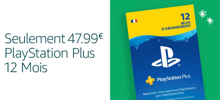 PlayStation Plus 12 mois - €47,99