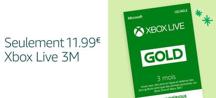 Xbox Live 3 mois - €11,99