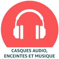 Casques audio, enceintes et musique