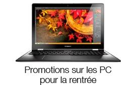 Promotions sur les PC