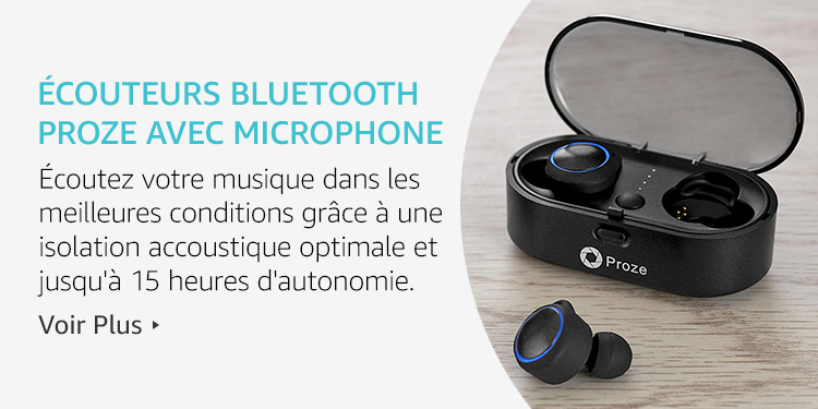Ecouteurs Bluetooth Proze avec microphone
