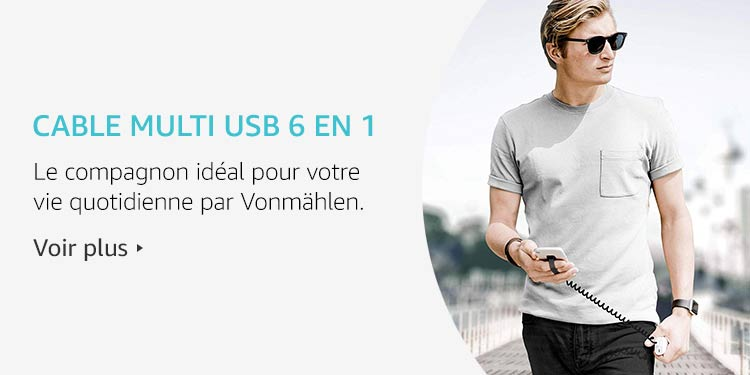 Cable USB 6 en 1