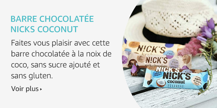Barre chocolatée Nicks Cocounut