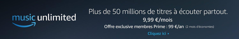 Découvrez Amazon Music Unlimited - plus de 50 millions de titres à écouter partout