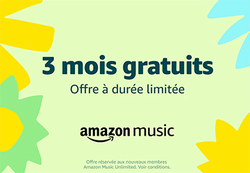 Amazon Music Unlimited: 3 mois gratuits