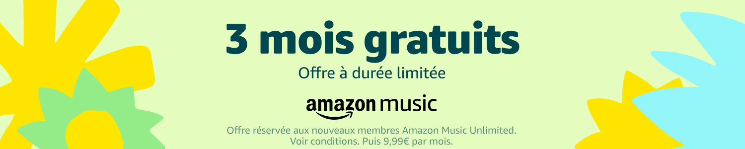 3 mois gratuits Amazon Music Unlimited