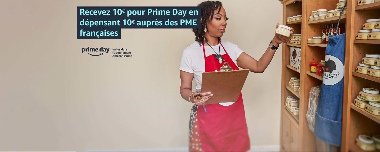 Dépensez 10 € auprès des petites entreprises et recevez 10 € pour Prime Day