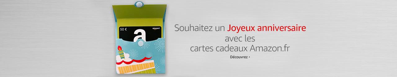 Souhaitez un Joyeux Anniversaire avec les chèques-cadeaux Amazon.fr