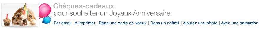 Chèques-cadeaux Amazon.fr pour l'anniversaire
