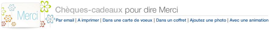 Chèques-cadeaux Amazon.fr pour dire Merci