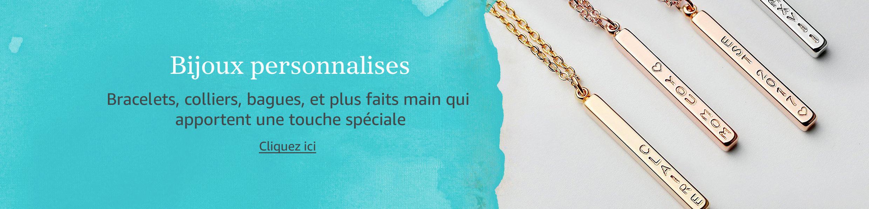 Bijoux personnalises. Bracelets, colliers, bagues, et plus faits main qui apportent une touche spéciale
