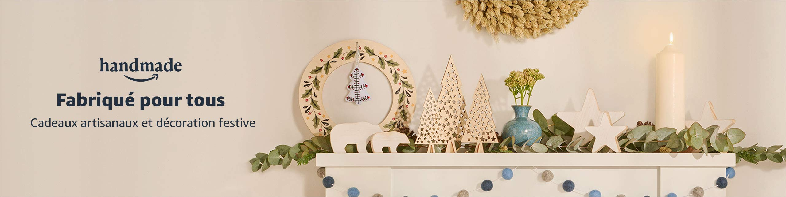 Cadeaux artisanaux et décoration festive