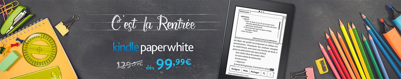 C'est la rentrée : 30 euros de réduction sur Kindle Paperwhite