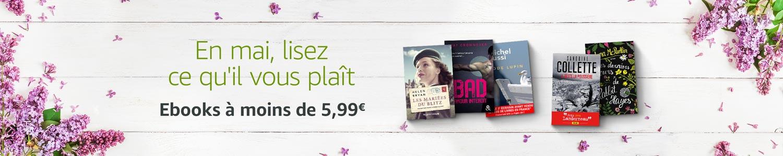Promo spéciale Ponts de mai : ebooks à moins de 5,99€