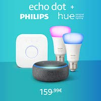 Nouveau Echo Dot + Kit Philips Hue Color