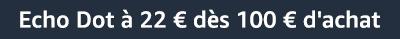 Echo Dot à 22 € dès 100 € d'achat