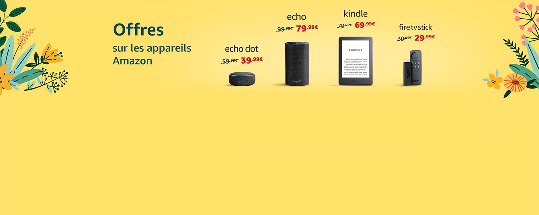 Offres sur les appareils Amazon