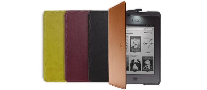 Les étuis en cuir avec lampe intégrée officiels Amazon pour Kindle Touch