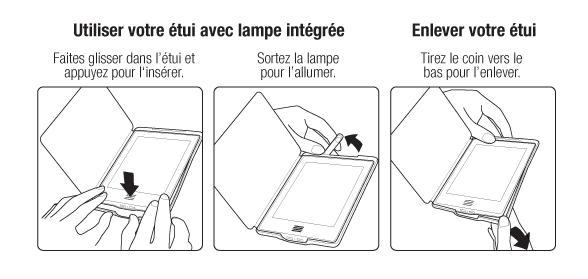 Uiliser votre étui avec lampe intégrée