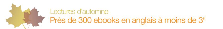 Lectures d'automne : près de 300 ebooks en anglais à moins de 3 euros