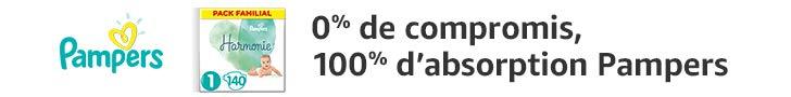 0% de compromis, 100% d'absorption Pampers