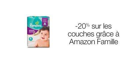 -20% sur les couches grâce à Amazon Famille
