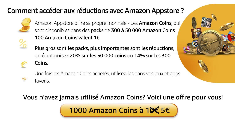 288551c068af8 Amazon.fr : Offre 1.000 Amazon Coins à 5 EUR : Applis et Jeux