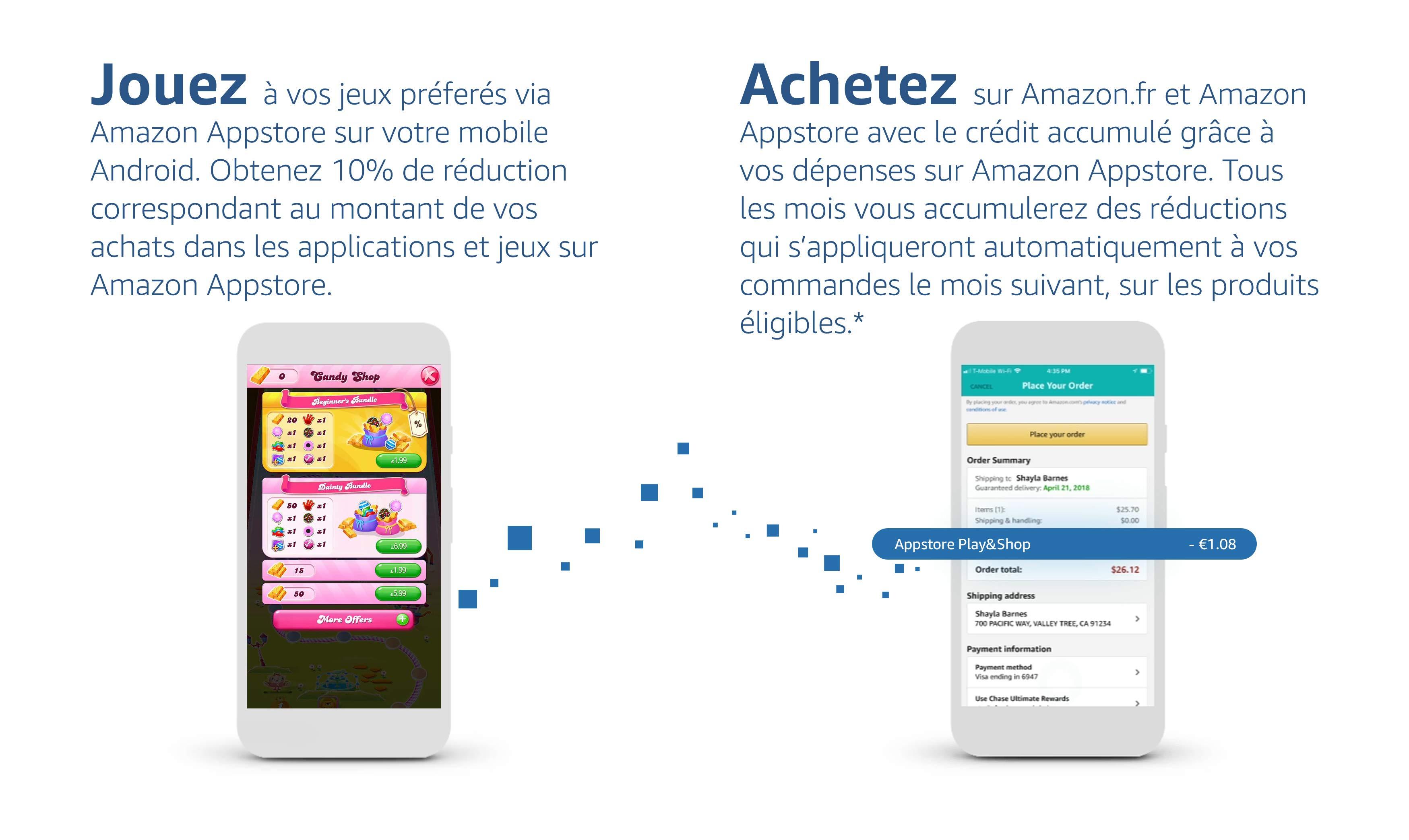 Jouez à vos jeux préférés et Achetez sur Amazon.fr et Amazon Appstore