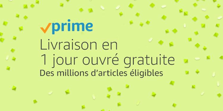 Amazon Prime, Livraison en 1 jour ouvré gratuite sur des millions d'articles