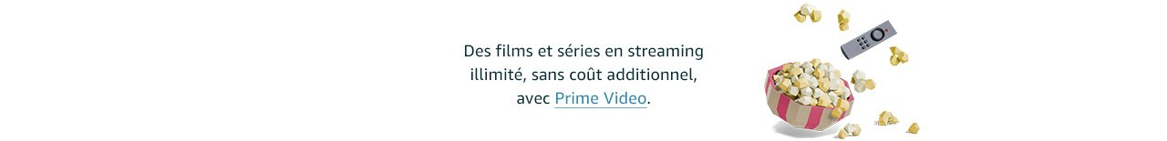 Des films et séries en streaming illimité, sans coût additionnel, avec Prime Video.