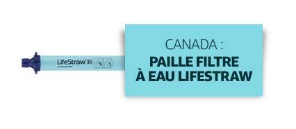 Canada : Paille filtre à eau Lifestraw