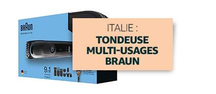 Italie : Tondeuse multi-usages Braun