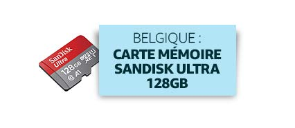 Belgique : Carte mémoire Sandisk Ultra 128GB