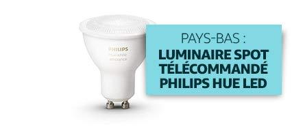 Pays-Bas : Luminaire Spot télécommandé Philips Hue LED