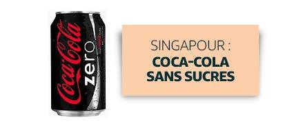 Singapour : Coca-Cola sans sucres