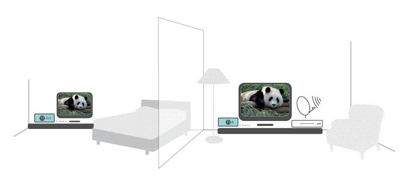 1 neli n4 transmetteur transmetteur vid o num rique par cpl tv vid o m219. Black Bedroom Furniture Sets. Home Design Ideas