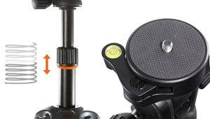 Anti-shock rubber ring & Quick-attach camera screw