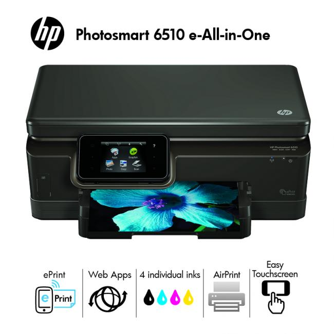 hp photosmart 6510 e all in one imprimante multifonctions. Black Bedroom Furniture Sets. Home Design Ideas