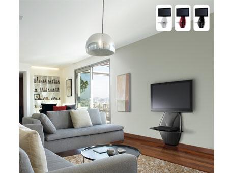 meliconi ghost design 500 mobilier mural avec colonne technique et tag re pour tv lcd rouge. Black Bedroom Furniture Sets. Home Design Ideas