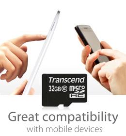 Transcend microSDHC - Maximize Mobile Potential