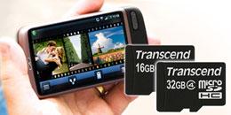Transcend's Class 10 microSDHC cards