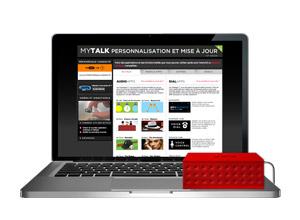 MyTalk web page with Jambox