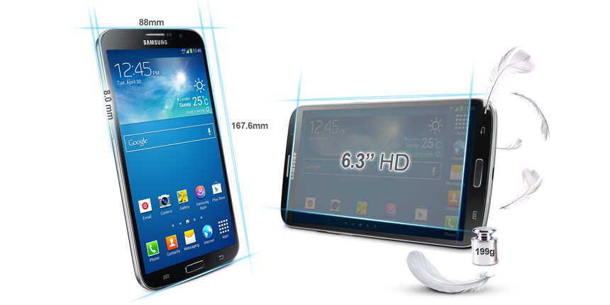 Samsung Galaxy Mega 6.3 Smartphone 4G Bluetooth/Wi-Fi Android 4.2 Jelly bean 8Go Noir: Amazon.fr